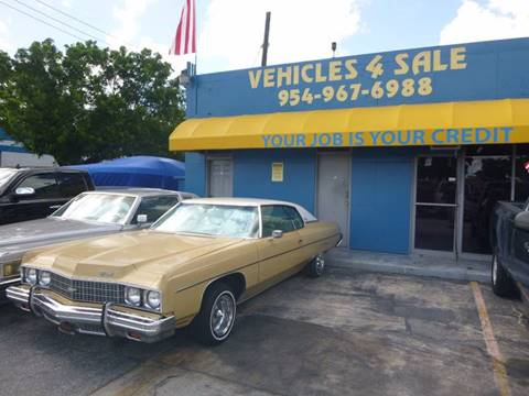 1973 Chevrolet Impala for sale in Hollywood, FL