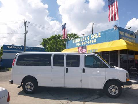 2013 Chevrolet Express Passenger for sale in Hollywood, FL