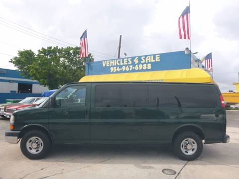 2012 Chevrolet Express Passenger for sale in Hollywood, FL