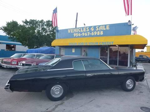 1973 Chevrolet Impala For Sale In Hollywood Fl