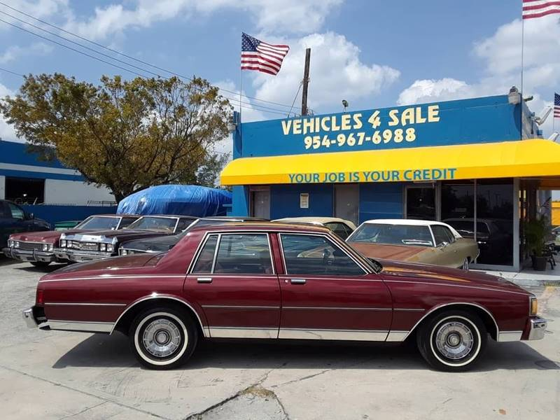 1984 Chevrolet Caprice Classic 4dr Sedan In Hollywood FL - VEHICLES ...