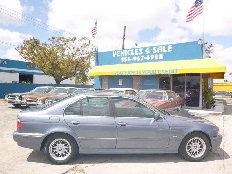 2001 Bmw 5 Series 525i 4dr Sedan In Hollywood FL - VEHICLES 4 SALE