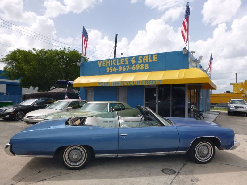1973 Chevrolet Caprice Caprice Classic Convertible In Hollywood FL ...