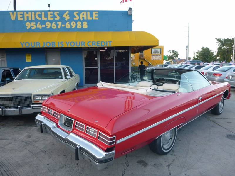 1975 Chevrolet Caprice CONVERTIBLE In Hollywood FL - VEHICLES 4 SALE