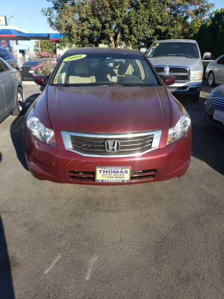 2008 Honda Accord for sale at Thomas Auto Sales in Manteca CA