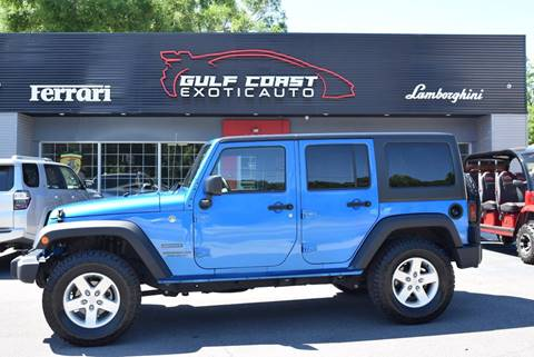 2016 Jeep Wrangler Unlimited for sale at Gulf Coast Exotic Auto in Biloxi MS