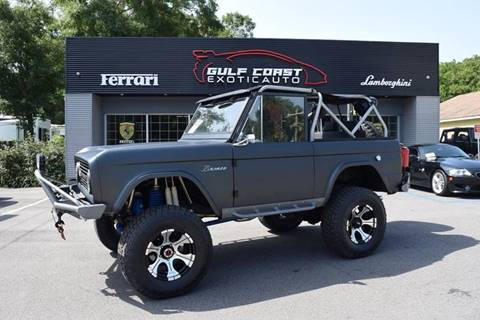1976 Ford Bronco for sale at Gulf Coast Exotic Auto in Biloxi MS