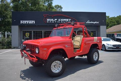 1966 Ford Bronco for sale at Gulf Coast Exotic Auto in Biloxi MS
