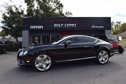 2012 Bentley Continental for sale at Gulf Coast Exotic Auto in Biloxi MS