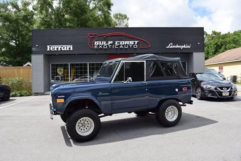 1972 Ford Bronco for sale at Gulf Coast Exotic Auto in Biloxi MS