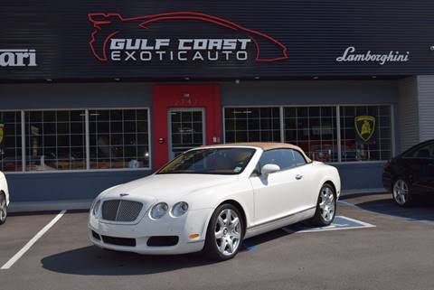 2008 Bentley Continental GTC for sale at Gulf Coast Exotic Auto in Biloxi MS