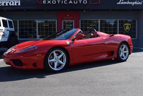 2004 Ferrari 360 Spider for sale at Gulf Coast Exotic Auto in Biloxi MS