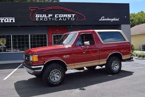 1989 Ford Bronco for sale at Gulf Coast Exotic Auto in Biloxi MS