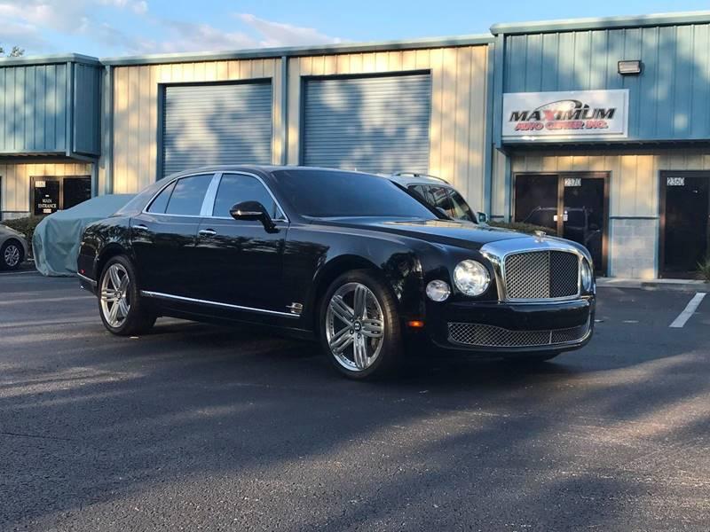 2012 Bentley Mulsanne 4dr Sedan In Sanford Fl Maximum Auto Center Inc