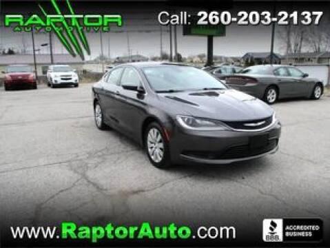 2015 Chrysler 200 LX for sale at Raptor Automotive in Fort Wayne IN