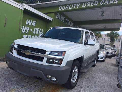 2002 Chevrolet Avalanche for sale at Blue Ocean Auto Sales LLC in Tampa FL