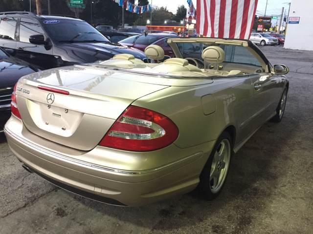 2004 MercedesBenz Clk CLK500 2dr Convertible In Tampa FL  Blue