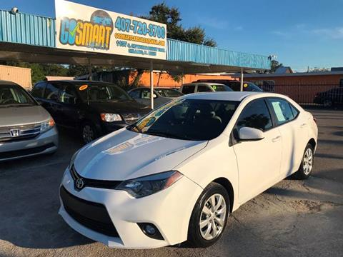 2014 Toyota Corolla for sale at Go Smart Car Sales LLC in Winter Garden FL