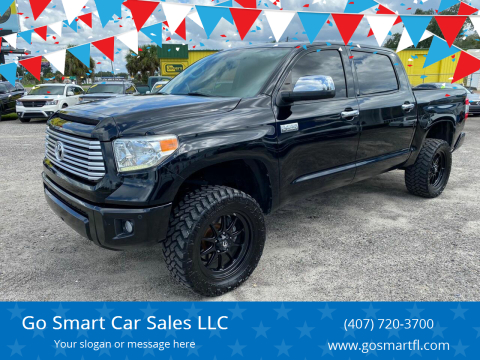 2014 Toyota Tundra for sale at Go Smart Car Sales LLC in Winter Garden FL