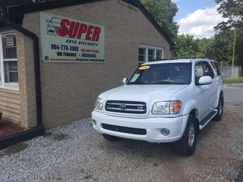 2001 Toyota Sequoia for sale in Greenville SC