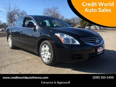 2012 Nissan Altima for sale at Credit World Auto Sales in Fresno CA