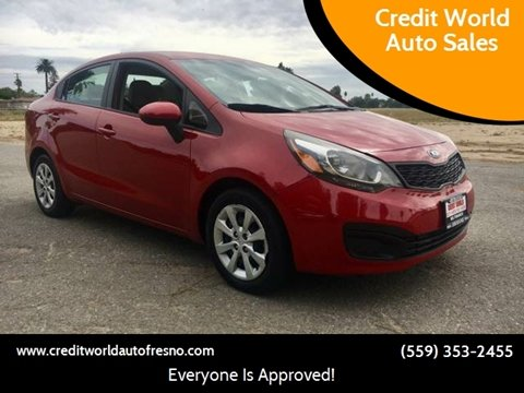 2014 Kia Rio for sale at Credit World Auto Sales in Fresno CA