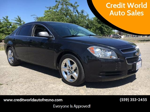 2012 Chevrolet Malibu for sale at Credit World Auto Sales in Fresno CA