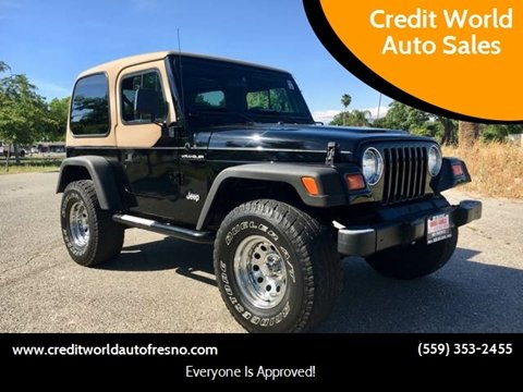 1998 Jeep Wrangler for sale at Credit World Auto Sales in Fresno CA