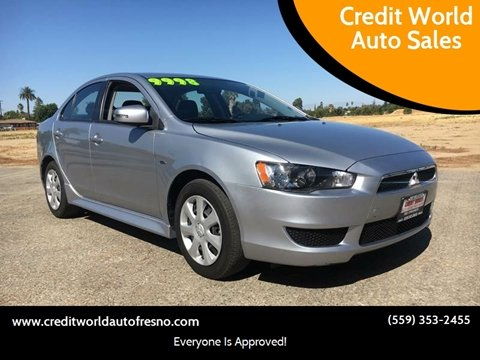 2015 Mitsubishi Lancer for sale at Credit World Auto Sales in Fresno CA