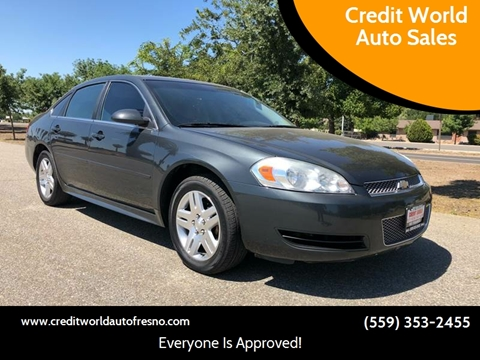 2013 Chevrolet Impala for sale at Credit World Auto Sales in Fresno CA