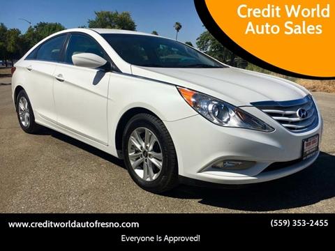 2013 Hyundai Sonata for sale at Credit World Auto Sales in Fresno CA