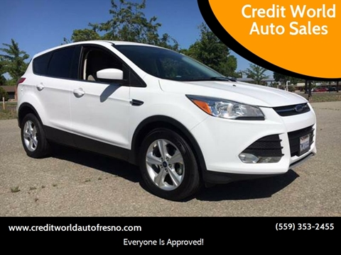 2015 Ford Escape for sale at Credit World Auto Sales in Fresno CA