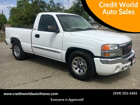 2005 GMC Sierra 1500 for sale at Credit World Auto Sales in Fresno CA