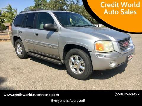 2004 GMC Envoy for sale at Credit World Auto Sales in Fresno CA