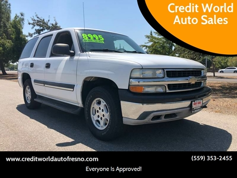 2004 Chevrolet Tahoe for sale at Credit World Auto Sales in Fresno CA