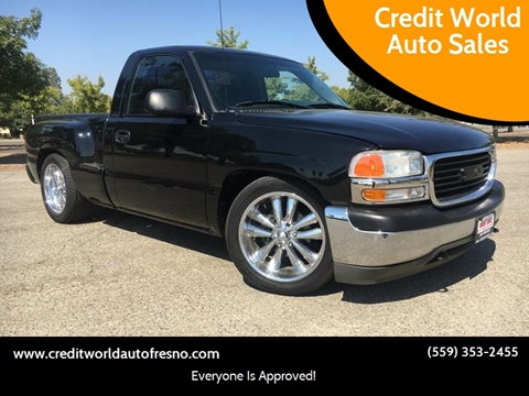 2001 GMC Sierra 1500 for sale at Credit World Auto Sales in Fresno CA