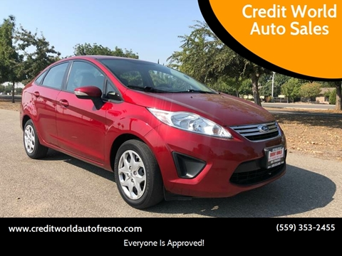 2013 Ford Fiesta for sale at Credit World Auto Sales in Fresno CA