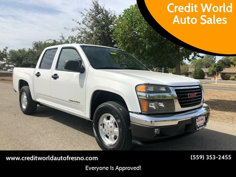 2005 GMC Canyon for sale at Credit World Auto Sales in Fresno CA