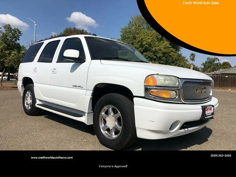 2005 GMC Yukon for sale at Credit World Auto Sales in Fresno CA