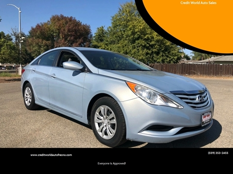 2012 Hyundai Sonata for sale at Credit World Auto Sales in Fresno CA