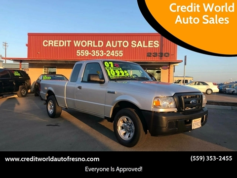 2007 Ford Ranger for sale at Credit World Auto Sales in Fresno CA