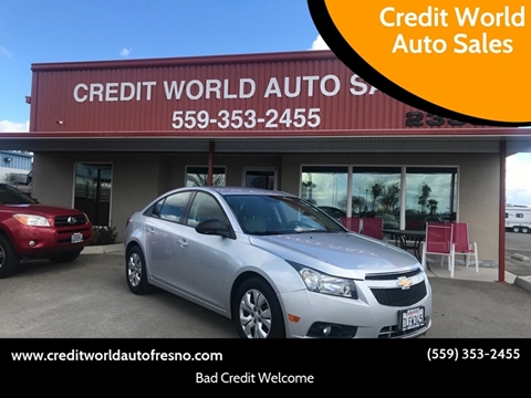 2013 Chevrolet Cruze for sale at Credit World Auto Sales in Fresno CA