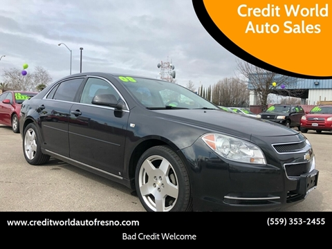 2008 Chevrolet Malibu for sale at Credit World Auto Sales in Fresno CA