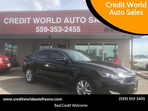 2013 Kia Optima for sale at Credit World Auto Sales in Fresno CA
