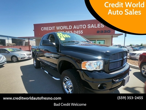 2004 Dodge Ram Pickup 2500 for sale at Credit World Auto Sales in Fresno CA