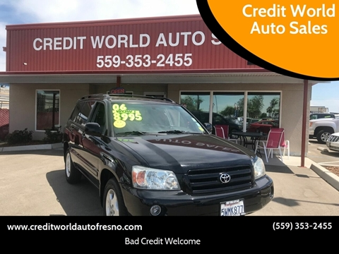 2006 Toyota Highlander for sale at Credit World Auto Sales in Fresno CA