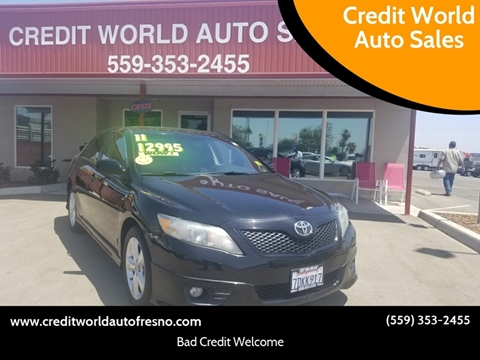 2011 Toyota Camry for sale at Credit World Auto Sales in Fresno CA