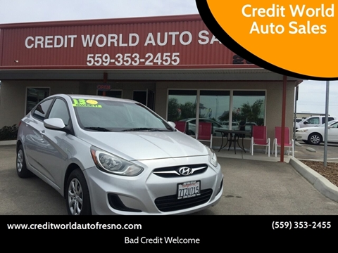 2013 Hyundai Accent for sale at Credit World Auto Sales in Fresno CA
