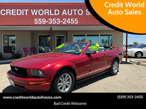 2006 Ford Mustang for sale at Credit World Auto Sales in Fresno CA