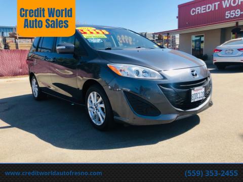 2015 Mazda MAZDA5 for sale at Credit World Auto Sales in Fresno CA